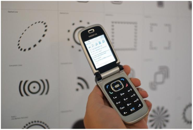 A mobile phone with Near Field Communication (NFC) support which can be used for mobile commerce transactions