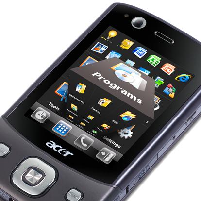 Acer Tempo DX900 smartphone is touch-enabled and based on Windows Mobile.