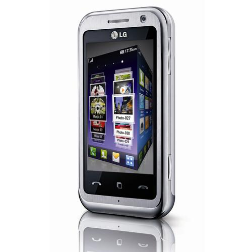 The LG-KM900 Arena smartphone can play DVD-quality DivX and Xvid movies, storing them in its 8GB of internal memory or removable Micro SD cards holding up to 32GB. It's the first phone on the market to offer Dolby Mobile, says LG.