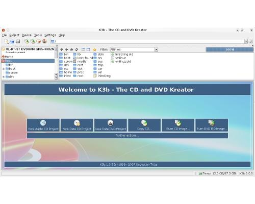 K3b: a much loved CD and DVD burning app for KDE and Linux
