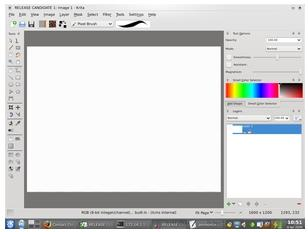 KOffice 2 will include Krita, an image manipulation tool like PhotoShop or the Gimp