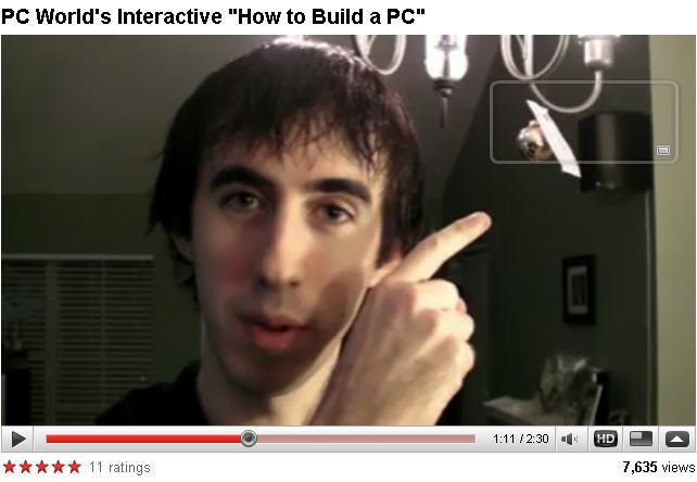 'How to build a PC' YouTube video.