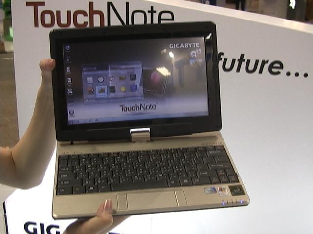 Gigabyte's TouchNote T1028 netbook.