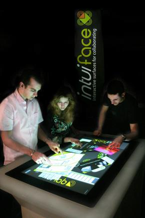 The IntuiLab IntuiFace has many uses -- including touch screen gaming