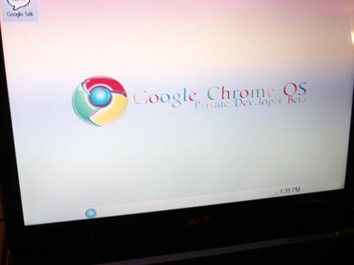Fake Google Chrome OS screenshot resembles a familiar interface