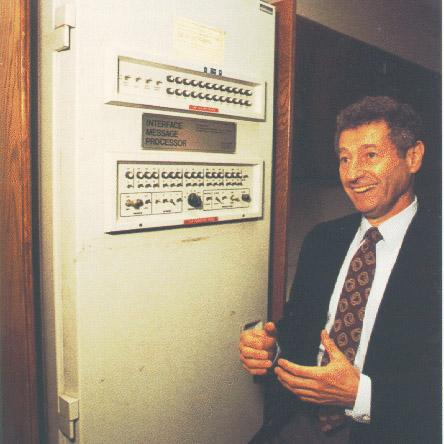 Leonard Kleinrock demonstrates the first ARPANet node