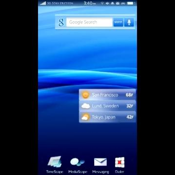 "Sony Ericsson has developed a custom interface for Android dubbed ""Rachel"""