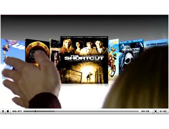 Flipping through movies with PrimeSense's motion-sensing interface technology