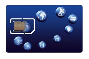 A prototype micro-SIM card