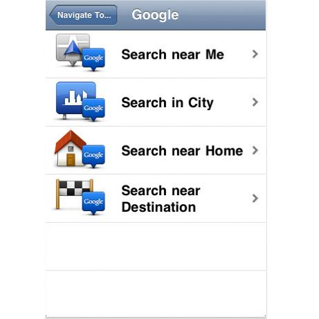 The TomTom Australia iPhone app update 1.3 allows users to search for POIs using Google Local Search.