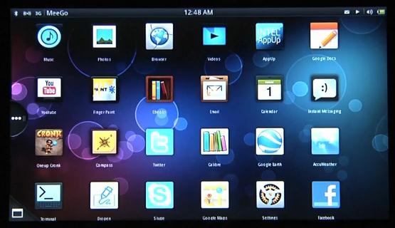 MeeGo has a multi-touch interface for tablet PCs