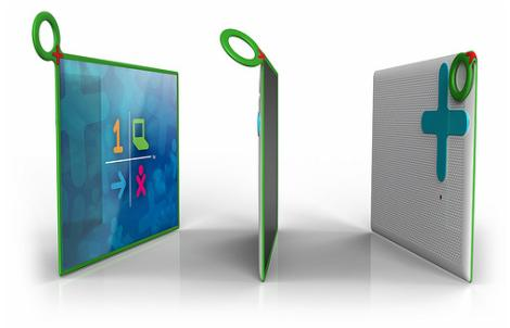 The OLPC XO-3's new design features an all plastic tablet screen which is semi-flexible