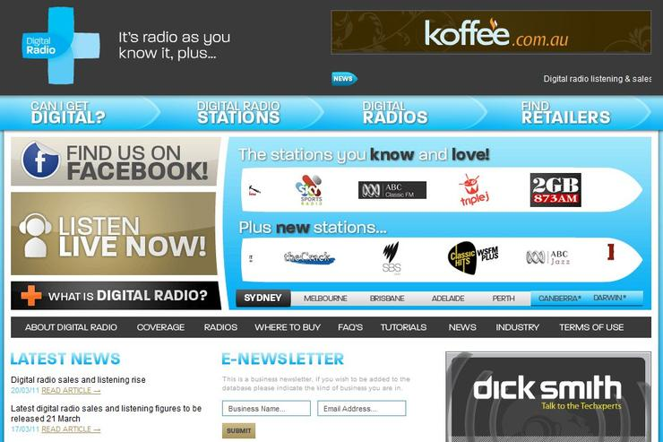 The Digital Radio Plus Web site.