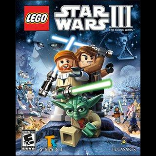 The box art for LEGO Star Wars III: The Clone Wars.