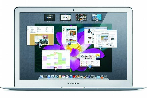 Mac OS X Lion running on a Apple MacBook Air.