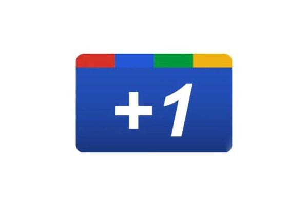 The Google +1 button.