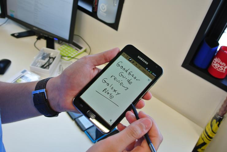The Samsung Galaxy Note and its S-Pen, otherwise known as a stylus