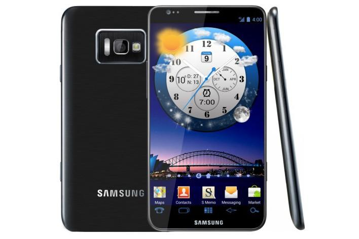 A concept design of what the Samsung Galaxy S III Android phone could look like