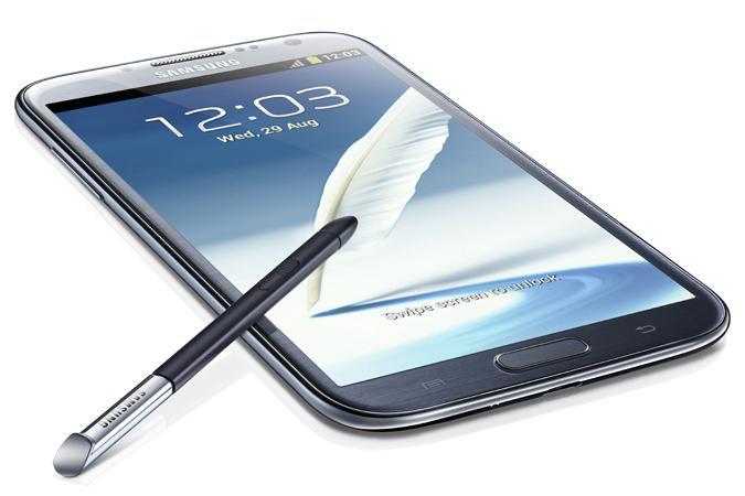 No word on an Aussie release...yet: the Samsung Galaxy Note II