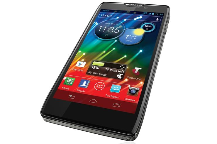 The Motorola RAZR HD, available today through Telstra, has a 2500mAh battery.