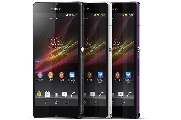 The Sony Xperia Z Android phone.