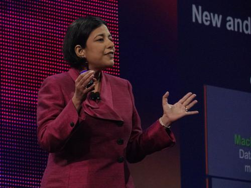 Mala Anand, [cq] senior vice president of Cisco's Services Platforms Group, spoke on Wednesday at Cisco Live in San Francisco.