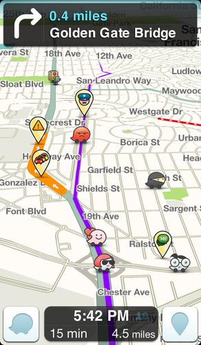 Waze is a crowdsourced mobile app for navigating traffic and roads.