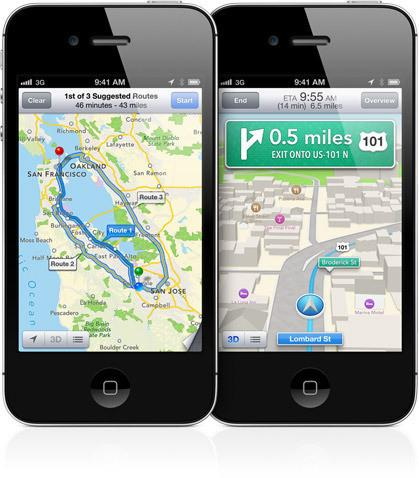 Apple Maps on iOS 6