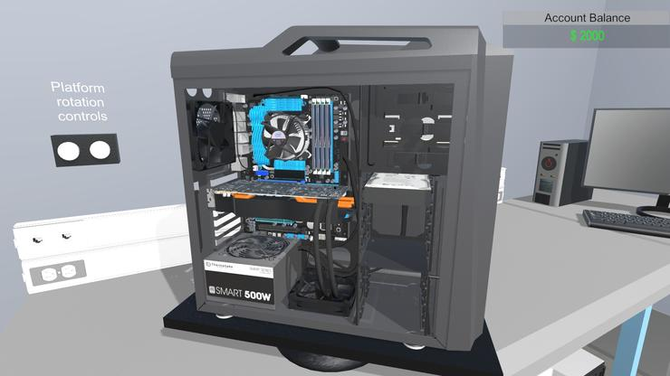 meet pc building simulator a diy teaching tool that could. Black Bedroom Furniture Sets. Home Design Ideas