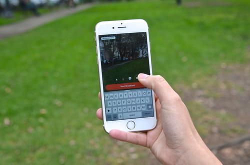 Periscope's app lets users record live video from their smartphone and share it publicly on Twitter.