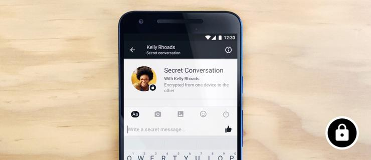how to start a secret conversation on facebook pc