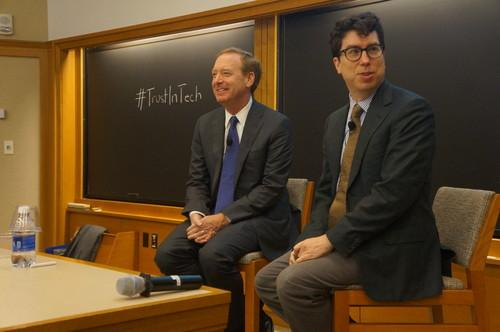 Microsoft General Counsel Brad Smith and Harvard Law School Professor Jonathan Zittrain