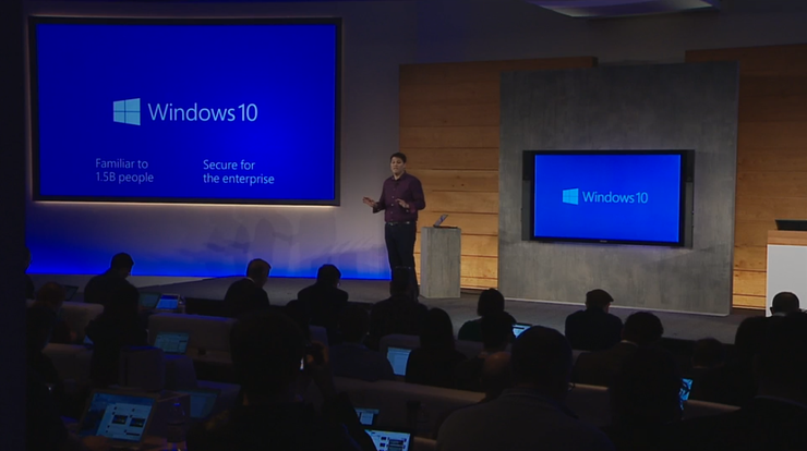 Microsoft's Terry Myerson introduces Windows 10 features