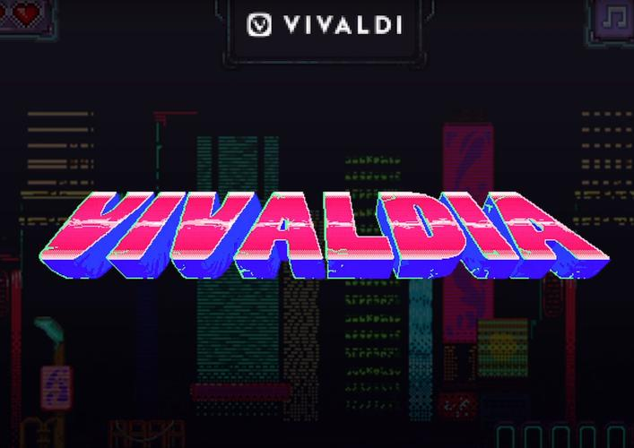 Vivaldi's Web Browser Now Includes an 80s Cyberpunk Arcade Game