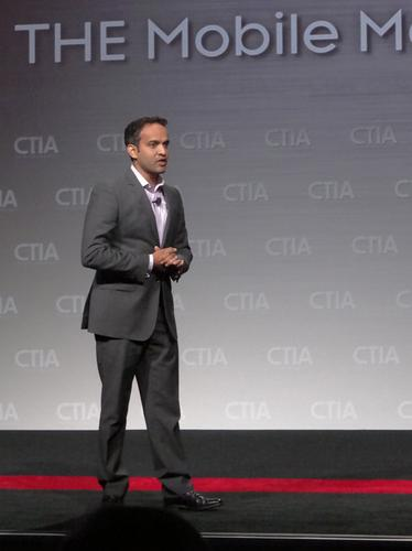 Gibu Thomas, global head of mobile at Wal-Mart Stores, gave a keynote address on Wednesday at CTIA Wireless in Las Vegas.