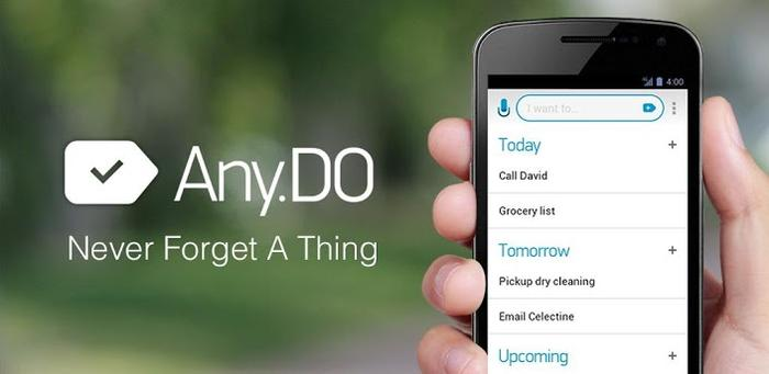 Any.DO is one of five Android to-do apps we've featured.