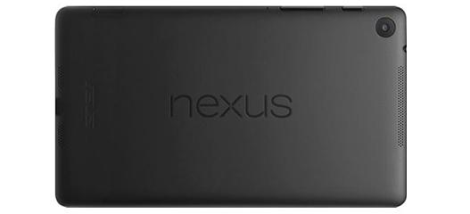 The Nexus branding on the back of the tablet reads the right way in landscape mode.