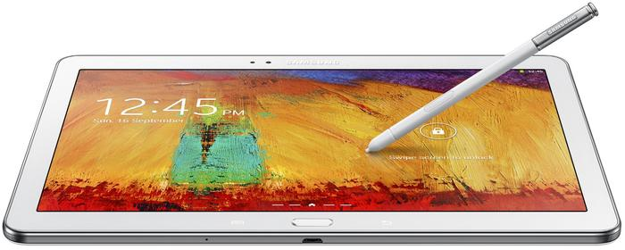 The Galaxy Note 10.1 2014 Edition has a super clear LCD with a resolution of 2560x1600.