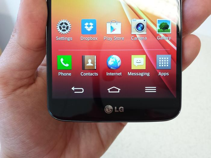 The G2's 5.2in IPS screen is one of the best on the market.
