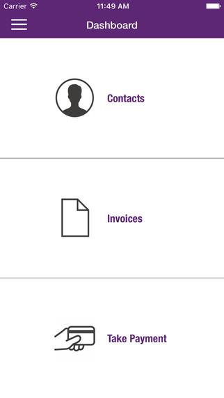 MYOB mobile app.