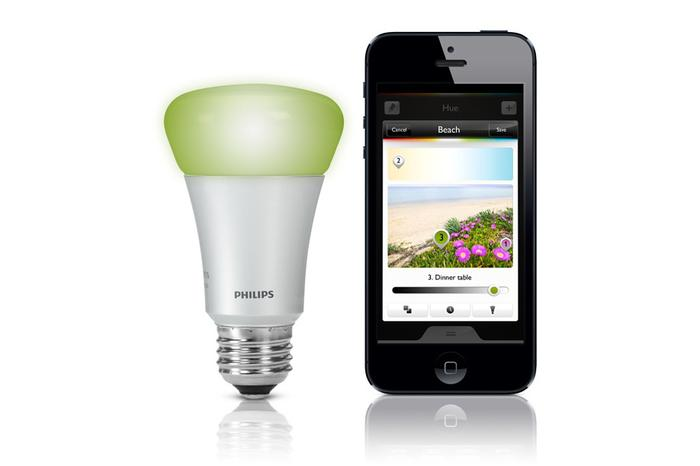 philips hue review this led light bulb hooks up to your wi fi and can change to any colour. Black Bedroom Furniture Sets. Home Design Ideas