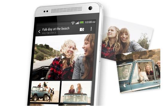 The One mini runs HTC's latest Sense 5 user interface.
