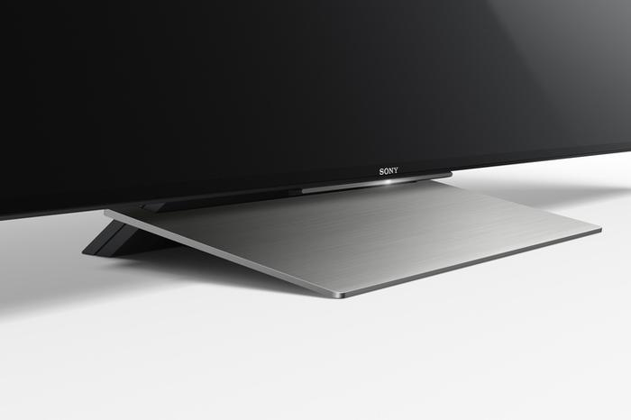 "This week's new, all-encompassing Sony design ethos is called ""Slice of Life."" It makes the stand look kinda cool."