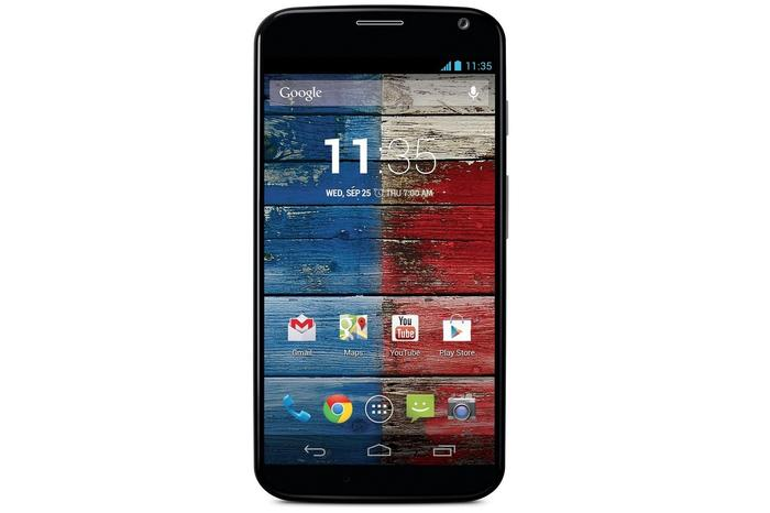 The Motorola Moto X Android phone.