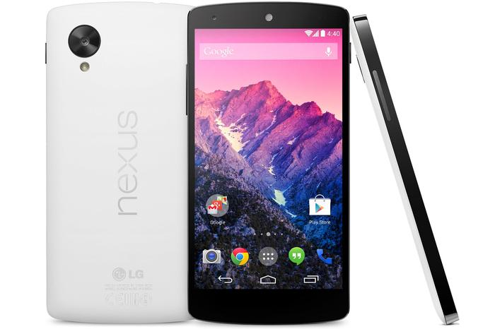 The Google Nexus 5 Android smartphone.