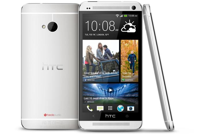 The HTC One smartphone.