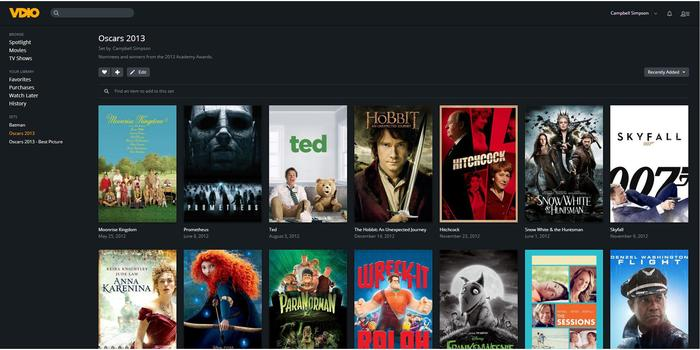 We made a set of 2013 Academy Awards nominees and winners -- most are available on Vdio.