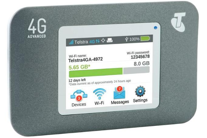 The Telstra Wi-Fi 4G Advanced modem will be available in Australia next week.