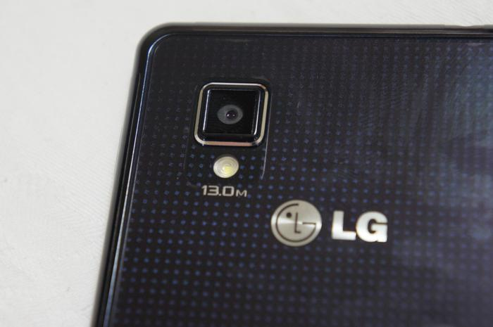 "LG's ""Crystal Reflection"" finish can be seen on the back."