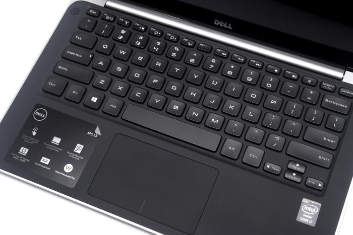 The XPS 13's keyboard layout.